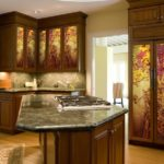 Vineyard Glass Inserts for Kitchen Cabinets